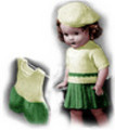 Sweater, Skirt and Step-In Knitting Patterns 18-Inch Doll