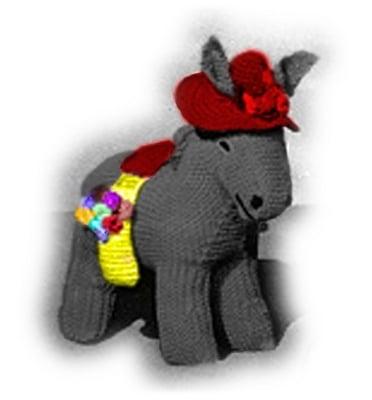 Product picture Donkey & Donkey Baby (Foal) Crochet Pattern - Stuffed Donkey