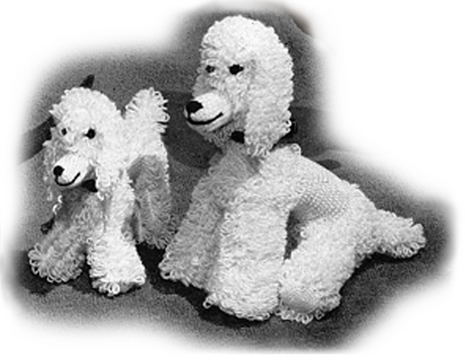 Product picture Poodle and Puppy Crochet Pattern - Stuffed Poodle (#107)